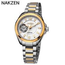 Luxury Stainless Steel Watch Strap  Women's Clock Import Switzerland Movement Mechanical Women Waterproof Business Watches
