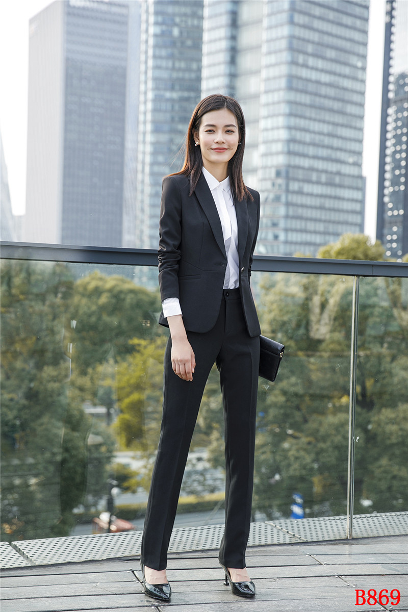 Ensemble Élégant Formelle Dames 2 Noir Bureau D'affaires Costumes Pantalon Et Porter Travail Pièce Femmes Blazer Veste Y6YxqZ