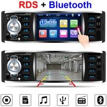 """1 Din RDS Centrale Multimediale Radio Car Multimedia Auto 4.1 """"Schermo di Tocco di HD di Musica di Bluetooth Video Player Autoradio Specchio link"""