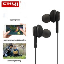 CHYI In Ear Headphones Sport Earphone With Microphone 3.5mm Hifi Headset Stereo Earbuds With Active Noise Canceling For Samsung kz zs1 headset dynamic monitoring noise cancelling stereo in ear headphones hifi earphone with microphone for phone gaming