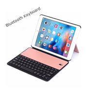 Ultra Slim Wireless Bluetooth Keyboard for New iPad 2017 9.7 with Stand Leather Case Cover for iPad 9.7 2017 A1822 A1823
