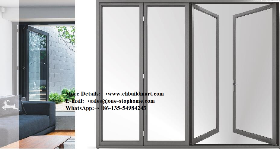 Aluminium Heavy Folding Door Sound-Proof For Villa House Hotel Building Project