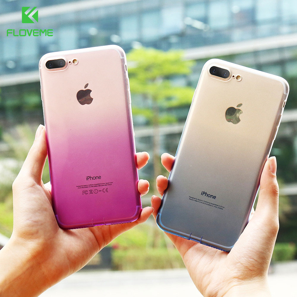 FLOVEME Gradient Changing Colors Case For iPhone 8 6 5S