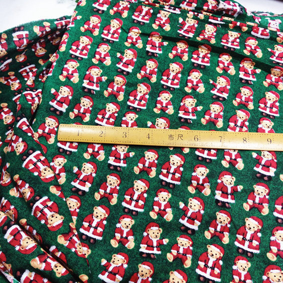 1 Meter Bears Printed Christmas Tissue 100 Cotton Designer Cloth