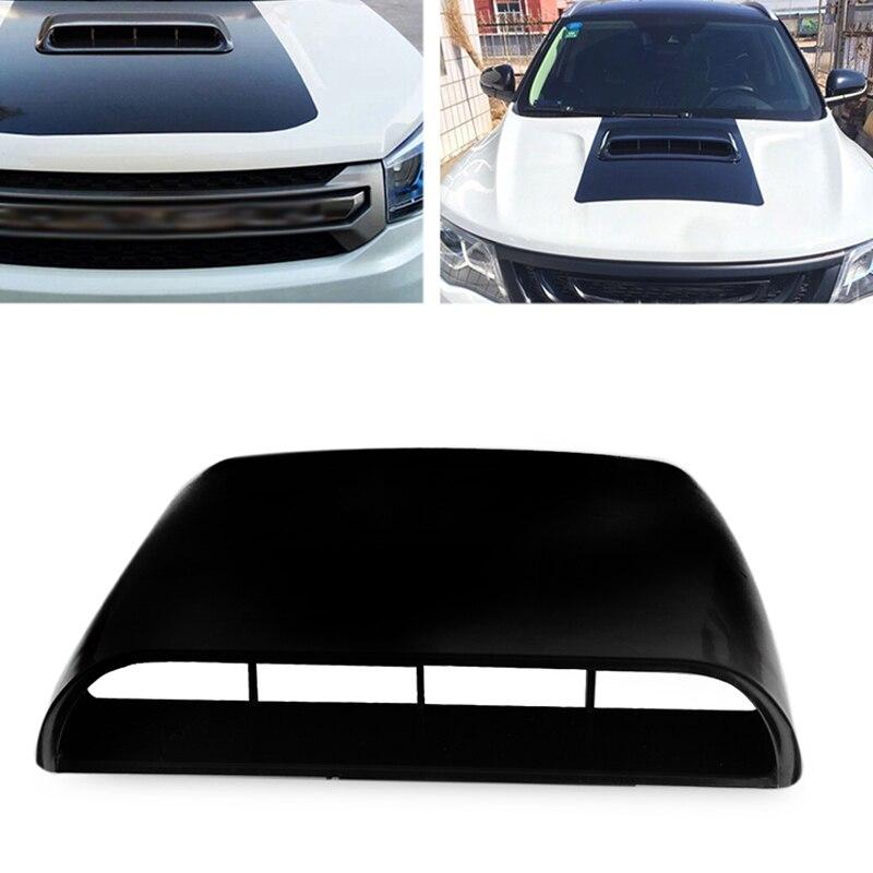 חדש אוניברסלי שחור רכב סטיילינג אוטומטי דקורטיבי זרימת אוויר צריכת סקופ טורבו מצנפת Vent כיסוי הוד Fit עבור כל רכב