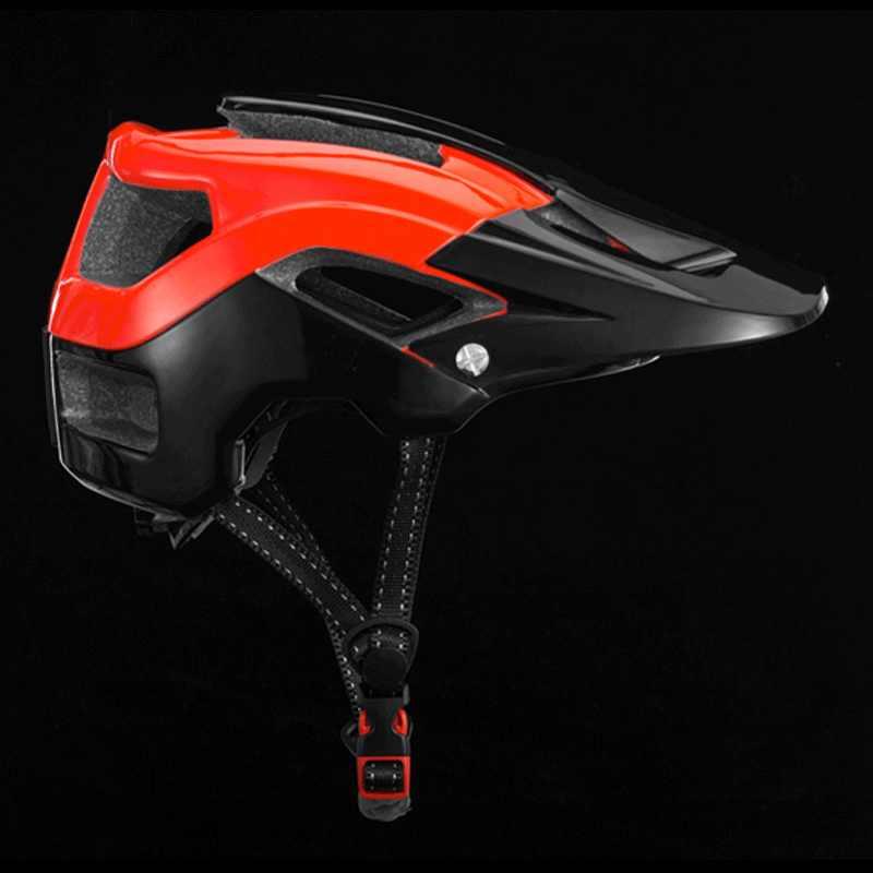 ROCKBROS lampe frontale de vélo casque de vélo intégralement moulé casque de lumière de vélo sport sécurité vtt casquette de vélo casque pour hommes femmes