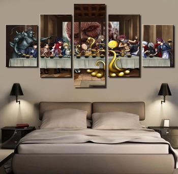 Frame 5 Pcs Large One Punch Man Modern Decorative Paintings on Canvas Wall Art for Home Decorations Wall Decor Artwork