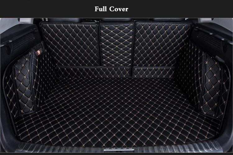 OHANEE Special trunk mats case for Mercedes Benz E260L GLS GLA GLE GL450 ML Gl450  waterproof liner boot carpets special rubber latex green car trunk mats case for benz smart desinged for original car model