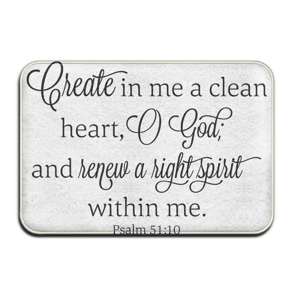 Clean Heart God Hight Spirit Bible Verse Funny Personalized Door Mats