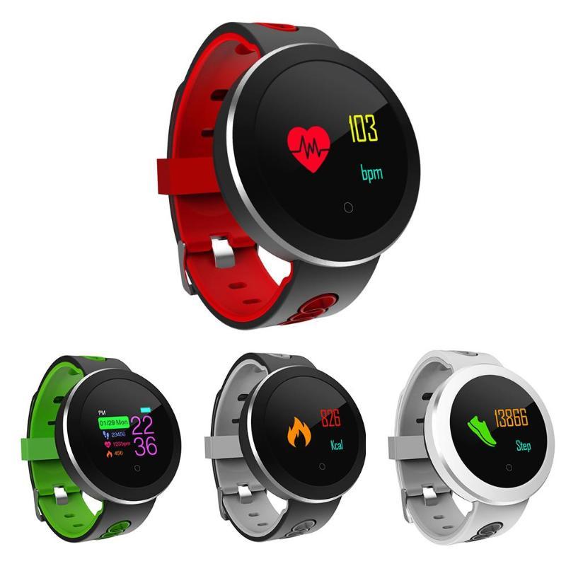 ALLOYSEED Q8 Pro IP68 Waterproof Unisex Fitness Tracker Smart Watch Bracelet Sport Heart Rate Smartwatch Monitor