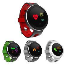 Купить онлайн Alloyseed Q8 Pro IP68 Водонепроницаемый унисекс Фитнес трекер Смарт-часы браслет Спорт сердечного ритма SmartWatch монитор для iOS андроид