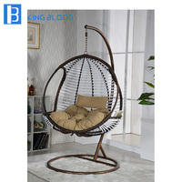 Leisure style swing hanging chair single egg chair rattan chair for outdoor furniture