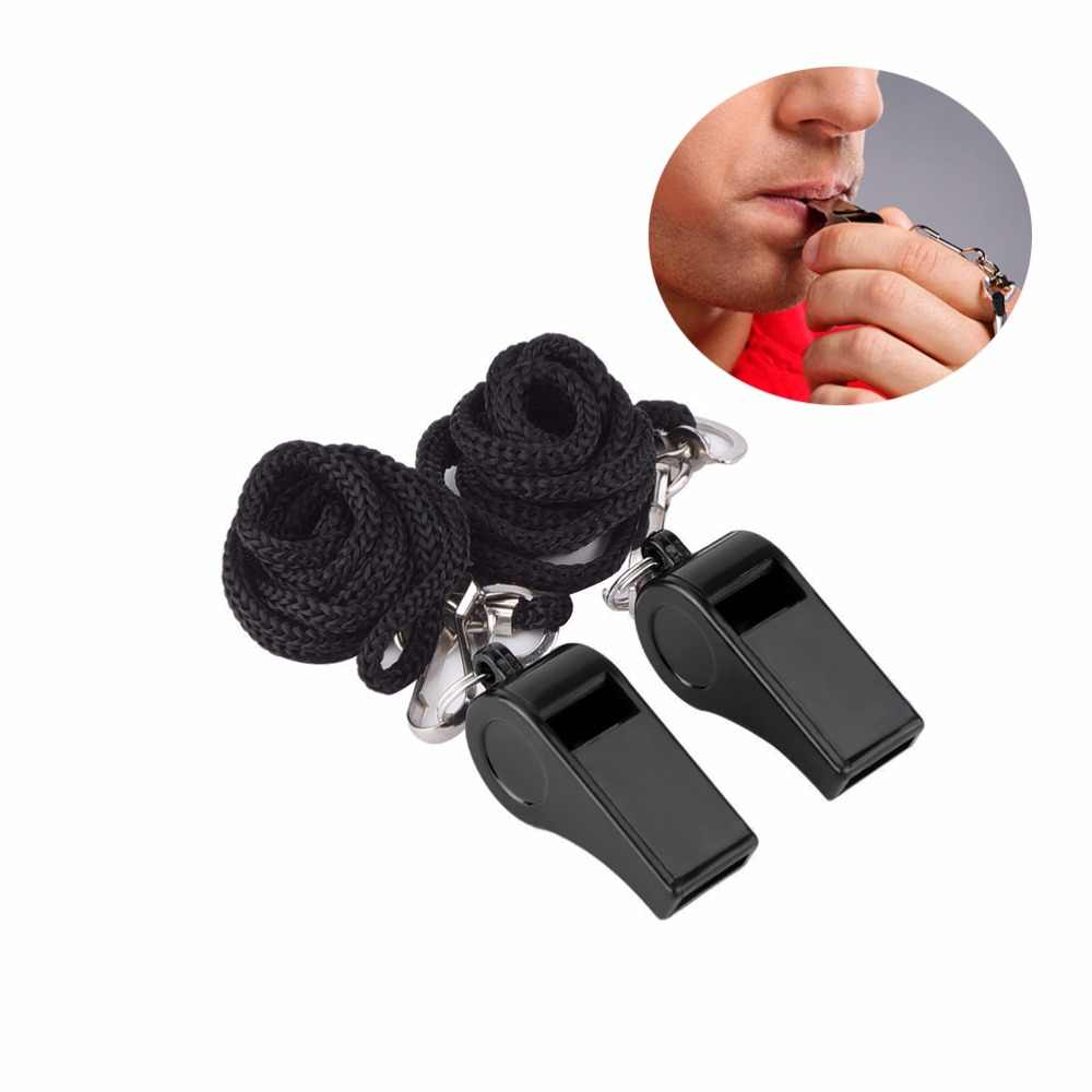 2Pcs Whistle Sports Referee Training Whistle Outdoor Survival With LanyarNYFK