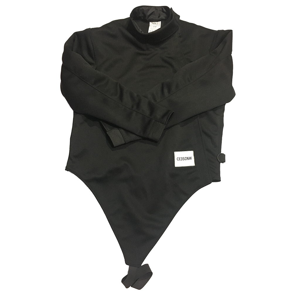 HEMA black fencing jacket CE approval 350NW fencing products and equipments