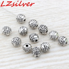 Hot Sale !  100pcs Antique Silver alloy exquisite Spacer Beads 7.5x8mm DIY Jewelry D23