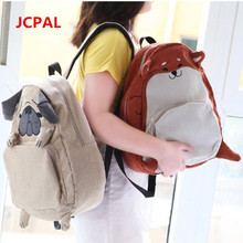 2016 Японский Симпатичные собаки и лиса Животных Мопс сумка Оригинальные ткани рюкзак средней школы мешок женщин рюкзак девушка подарок