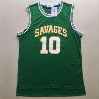 Gefex Mens College Movie Jerseys Dennis Rodman Basketball Jerseys 10 Green Blue White