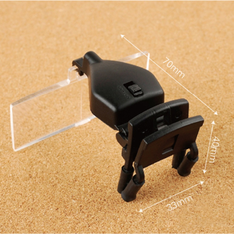 Lente d'ingrandimento a mani libere con lente d'ingrandimento a clip - Strumenti di misura - Fotografia 4
