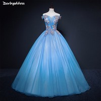 Light Blue Quinceanera Dresses Ball Gown Sweet 16 Debutante Party Dress Cheap Quinceanera Dresses 2018 vestido 15 quinceanera