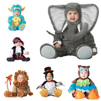 Baby Boy Girls Animal Cosplay Rompers Toddler Carnival Halloween Outfits Boys Shape Costume For Girls Jumpsuits