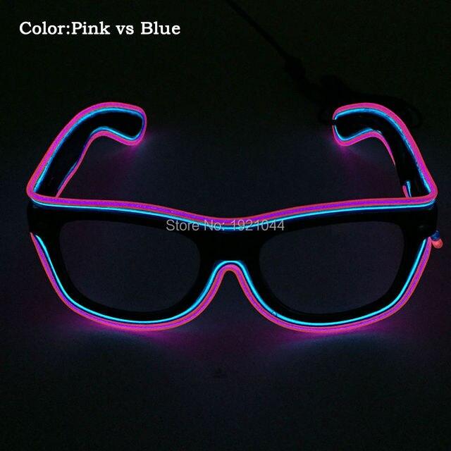 High grade 3 v Sound Aktiviert Zwei Farbe EL Draht Gläser LED ...