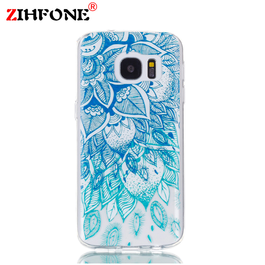 For Coque Samsung S7 Case 3D Relief Printing Silicone TPU Cover For Galaxy S7 Phone Case For Coque Samsung Galaxy S7 S 7 Bag