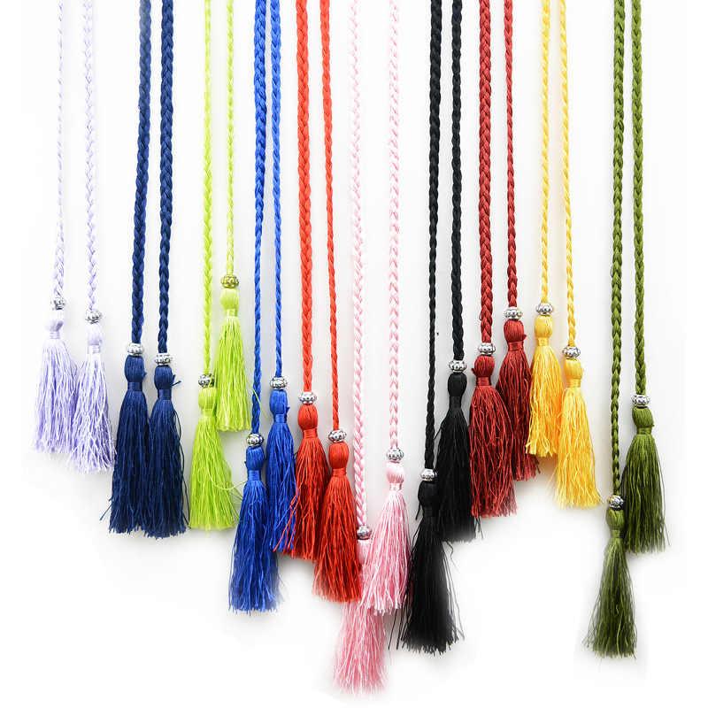 Плетеные черные кисточки ремни-цепи для женщин платье юбка винтажный корсет с бантами цвет пояс Женский Ketting Riemen Pasek Damski Cinturon