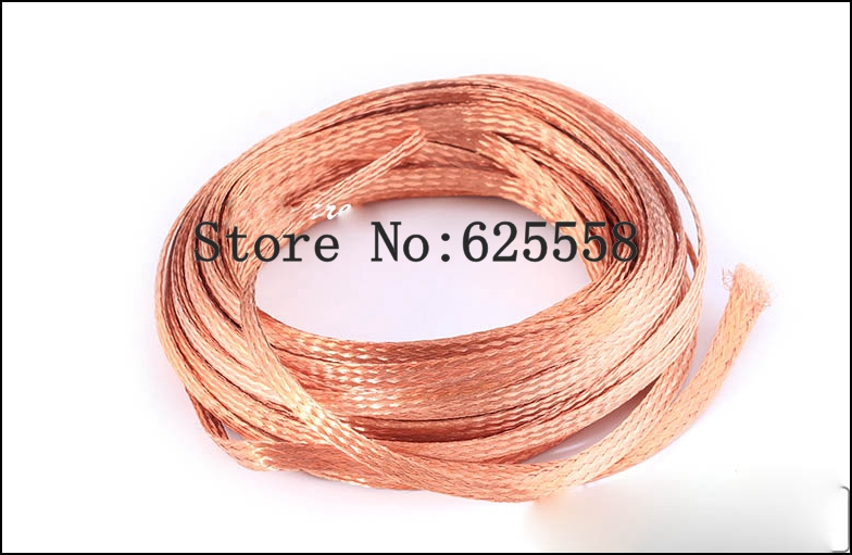 1m  15mm Flat Tinned Copper Braid Sleeve Screening Tubular Cable DIY  1m 15mm flat tinned copper braid sleeve screening tubular cable diy