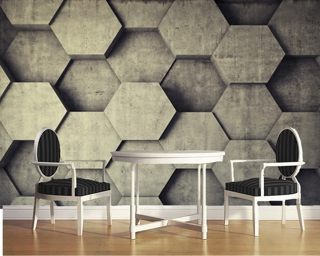Custom 3D ceiling Textile Wallcoverings, stone wall murals ...
