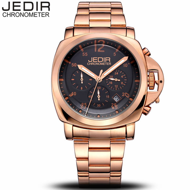 JEDIR Male Watches Chronograph Stainless Steel Watch Men Business Waterproof Wrist Watch relogio masculino montre homme N97