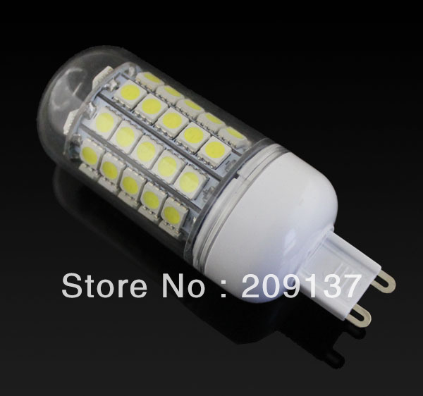 220V/240V 10W G9 E27 59 Leds SMD 5050 360 degree Corn Light Bulb Lamp Warm White/Cool White Free Shipping