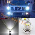 2 x H11 Super Brillante CREE Chips Proyector LED Niebla lámpara Daytime Running Light Bulb Para Nissan Sentra Rogue Xterra Pathfinder
