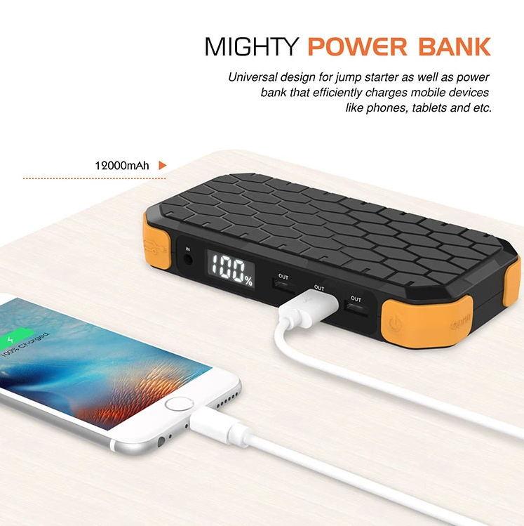 Banque D'alimentation de Secours de voiture Portable Voiture Jump Starter Voiture Chargeur de Surcharge Protection Court-Circuit