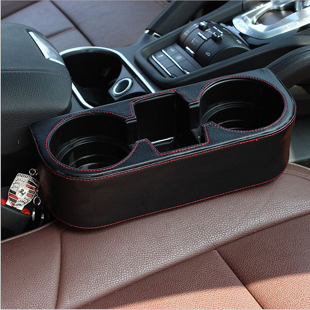 Universal Car Seat Cup Holder Trash Can Car Storage Box Auto Drink