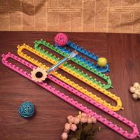 Free Shipping Colorful quadrate knitting loom 4 sizes 25cm,35cm,45cm,55cm for easy weaving handmade crafts Needlework