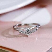 Серебряный Цвет кубический циркон обручальные классические кольца для женщин элегантный подарок Лидер продаж простое Rhainstone кольцо ювелирные изделия