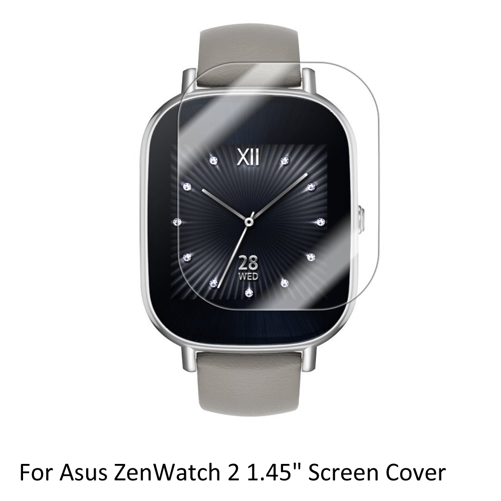 3x Clear LCD Screen Protector Guard Cover Shield Film Skin for Asus ZenWatch 2 1.45'' Sporting Smart Watch Accessories