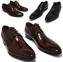 Grande tamanho EUR45 serpentine Preto/marrom bronzeado apontou dedo do pé sapatas de vestido dos homens sapatos de casamento genuíno sapatos de couro de negócios para homem