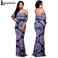 Plus Size Long Maxi Dress In The Floor Length Womens Long Dresses Ladies Strapless Off The Shoulder Split Maxi Dress Beach Wear