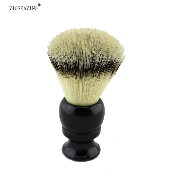 VIGSHAVING 24mm Knot Black Resin handle  Synthetic hair Shaving Brush