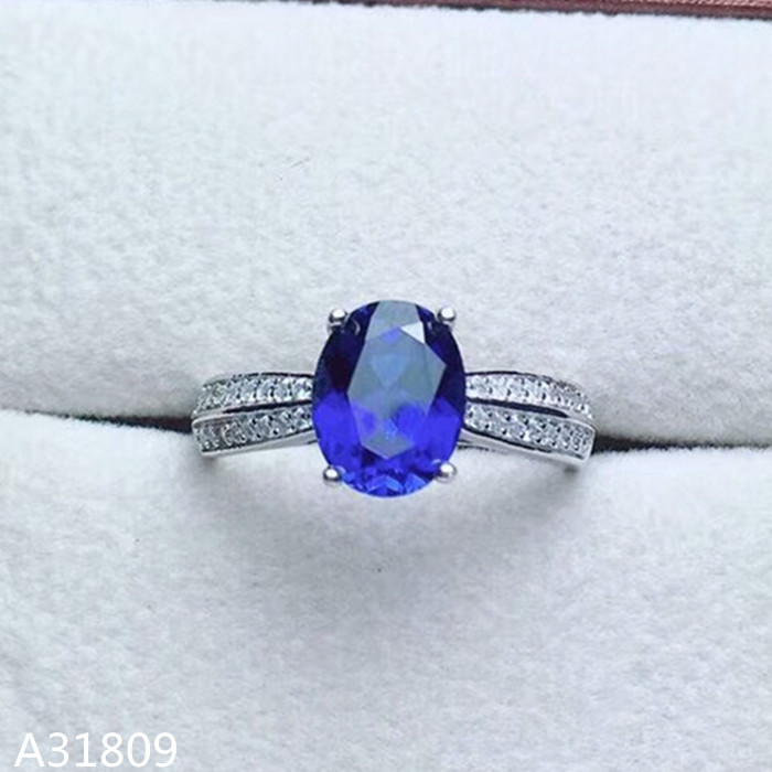 KJJEAXCMY Fine jewelry 925 pure silver inlaid natural 5A grade sapphire female ring ring oval. kjjeaxcmy fine jewelry 925 sterling silver inlaid natural blue loose female ring ring