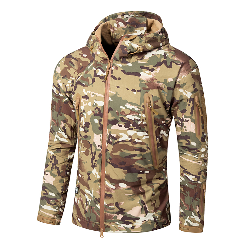 2018 TAD Waterproof Windbreaker Men Softshell Outdoor Military Tactical Jacket Man Hunting Camping Army Clothing Camouflage Coat tad jacket men waterproof zipper windbreaker multicam tan gray bk acu od cl 05 winter jacket