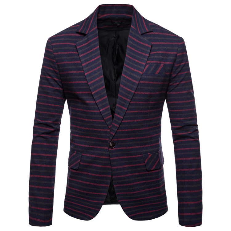 ブランドメンズファッションストライプハイグレードブレザー付添人の結婚式は最新のコートのデザインファッションドロップシッピングトップ服