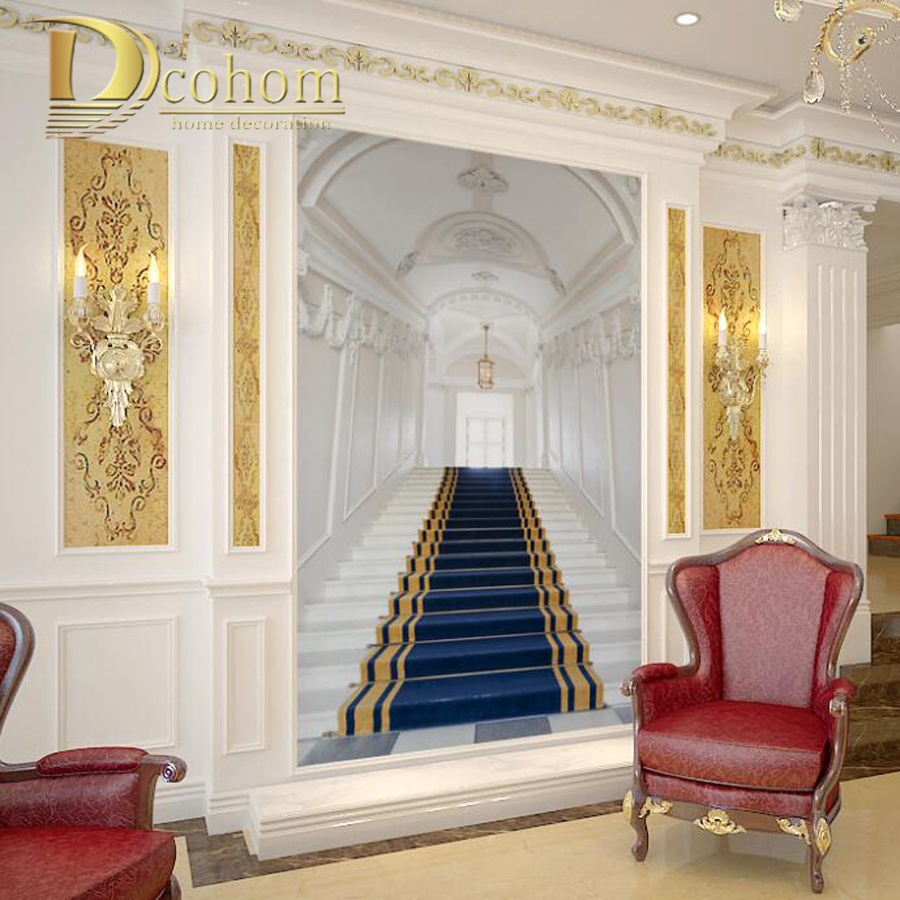 compare prices on wood wall murals online shopping buy low price palace corridor custom wall murals wallpaper for walls 3 d living room entrance decor spatial extension