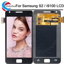 """AMOLED 4.3 """"עבור Samsung Galaxy SII S2 i9100 GT i9100 LCD תצוגת מסך מגע Digitizer עצרת + כלים"""