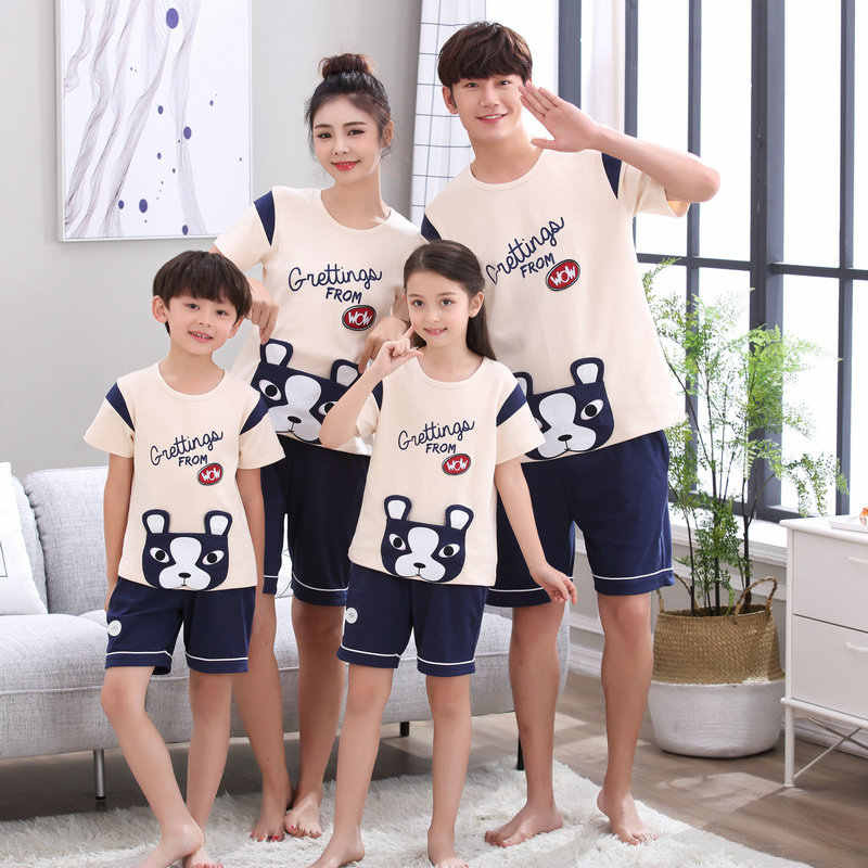 d0baa35267 Mom Son Outfits Family Pajamas Sets Mother Daughter Matching Clothes Father  Mom and Baby Boy Matching