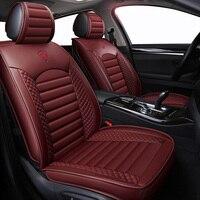 New Leather Cartoon Universal car seat covers for hyundai accent elantra santa fe solaris sonata tucson 2009 2008 2007 2006