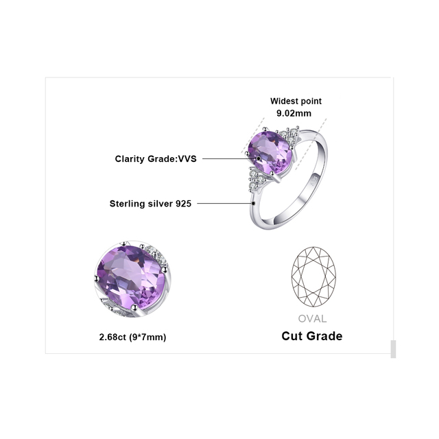 Classic Oval 2.8ct Created Alexandrite Sapphire Ring