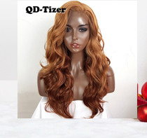QD-Tizer 180% Density Black Loose Hair Synthetic Lace Wigs Long Loose Curly Synthetic Lace Front Wigs for Fashion Women017
