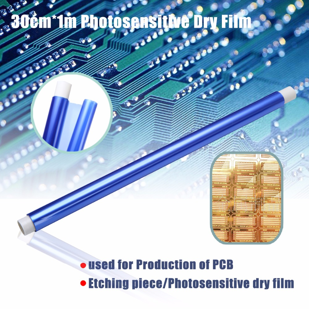 1 Roll Photosensitive Dry Film PCB Photoresist Film For Circuit Production Photoresist Sheets 30cmx1m 1000pcs 1 4w metal film resistors 750kohm 1
